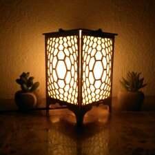 Honeycomb Shoji Table lamp | Geometric Lighting, Wood Lamp, Cozo Shadow Lights