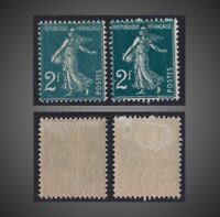 1931 FRANCE SOWER - SEMEUSE 2 F. PRUSIAN GREEN SHADES HINGED  SCT.184 Y. 239