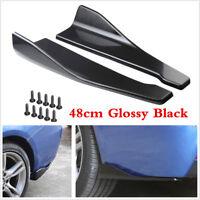 48cm Car Rear Lip Bumper Spoiler Canard Diffuser Wrap Angle Splitter Anti-crash