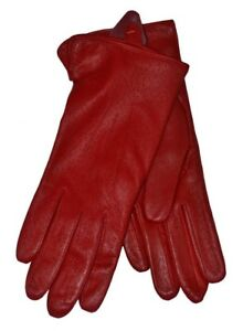 Dents Womens Ladies Jessica Leather Gloves imPeccary red,black,navy,brown,claret