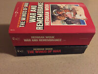 Herman Wouk lot 2 WWII Paperbacks The Winds of War, War and Remembrance