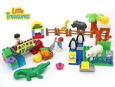 Happy Zoo - Building block 58 pieces Duplo compatible toy set for 3+ aged pre...