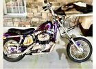 1975 Harley-Davidson Sportster 1000  1975 Harley-Davidson Sportster 1000 Cruiser Purple
