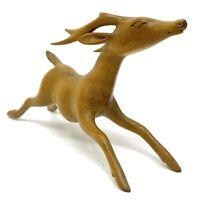 Vintage Tilem Gallery Mas Bali Carved Gazelle Figurine Light Wood