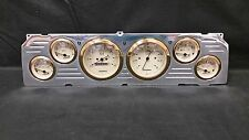 1964 1965 1966CHEVY TRUCK 6 GAUGE CLUSTER GOLD