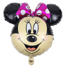 "XL 28"" Disney Minnie Mouse Jumbo Head Shape Foil Balloon Birthday Party Decor,"