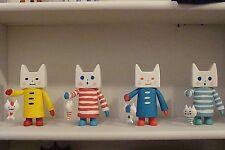 "GALLE COLLE Toy2R Designer Toy  6"" NEKONOKO Cat Carp Figure YELLOW"