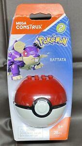 MEGA Construx Pokemon Pokeball Rattata Building Set 28 Pieces Series 2 Toy NEW