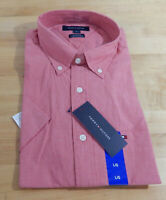 NWT Men's Tommy Hilfiger 100% Cotton Classic Fit Short Sleeve Button Down Shirt