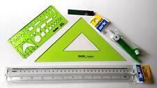 Schulset Geometrie Lineal Geodreieck Zirkel Feinminen Schablone Markenprodukte