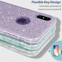 Hybrid Shockproof Bling Glitter Bumper Case Cover For iPhone Xs Max XR 7 8 6 6s+
