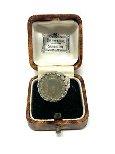 Amazing Antique Art Deco C1921 Sterling Silver 925 Threepence Coin Ring #742