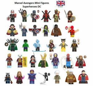 Marvel Avengers Mini Figures Superheroes DC Thor Iron Man Hulk Deadpool