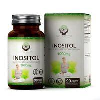 Myo Inositol 1000mg con acido folico e cromo | 90 Capsula Vegane | PCOS