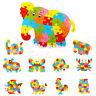 Bois animaux Puzzle Jigsaw alphabet lettre blocs enfants Bébé pédagogique jouet
