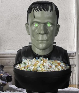 Frankenstein Animated Candy Bowl Halloween Universal Monsters LED Lights Up