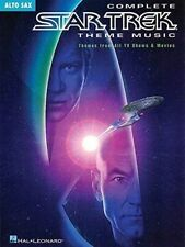 """COMPLETE STAR TREK THEME MUSIC"" ALL MOVIES & TV SHOWS ""ALTO SAX"" MUSIC BOOK-NEW"