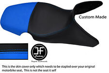 LIGHT BLUE BLACK AUTOMOTIVE VINYL CUSTOM 01-07 FITS BMW F 650 GS DUAL SEAT COVER
