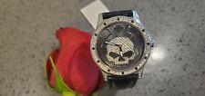 Harley Davidson watch made by Bulova, Willie G face, crystals around bezel