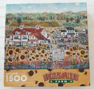 Springbok Sunflower Farm Jigsaw Puzzle 1500 pieces Vintage