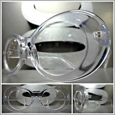Oversized Exaggerated RETRO Style Clear Lens Eye Glasses Transparent Oval Frame