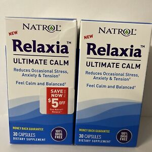 Natrol Relaxia Ultimate Calm Dietary Supplement - 30 capsules - EXP Feb/Apr 22