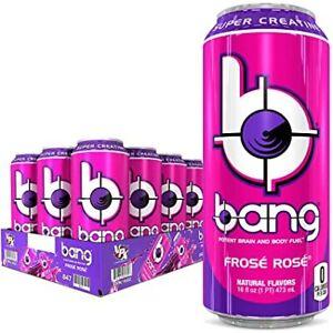 VPX Bang Energy Drink Super Creatine Frose Rose 16 oz ( Pack of 12 )