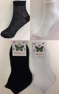 2 Pairs Ladies Women Stylish Soft Floral Lace Fishnet Meshnet Ankle Socks