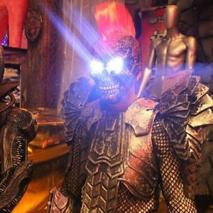 Cos Ghost Rider Skull Laster Helmet Devil Costume DJ Fancy Dress Party Mask Club