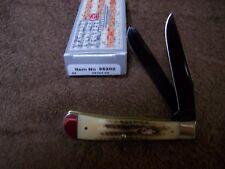 CASE XX Vintage Bone Trapper with Black BVD Blades Pocket Knife 55202 NEW Unique