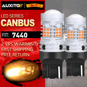 AUXITO Amber Yellow 7440 LED Front Turn Signal Light Bulbs No Hyper Flash Canbus