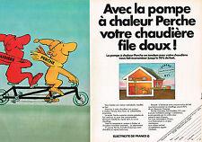 PUBLICITE ADVERTISING 064  1982  PERCHE   pompe à chaleur  ( 2 pages)