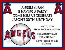 10 Los Angeles Angels of Anaheim Baseball Invitations Birthday Party ANY team