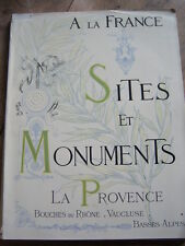 ARCHITECTURE TOURISME SITES et MONUMENTS 1902 PROVENCE VAUCLUSE BASSES ALPES