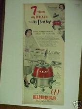 1955 Eureka Roto-Matic Vacuum Cleaner House Rug  ad