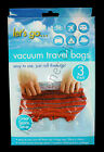 Vacuum Travel Storage Clothes Bags Space Saving Hand Roll 3 Pack 38cm x 54cm