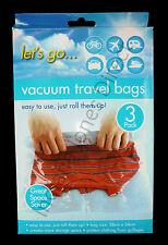 Viaggi a vuoto STORAGE BAGS X3 SALVASPAZIO proteggere Abbigliamento Valigia compressione