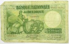 More details for 1928 belgium 50 francs / 10 belgas banknote - scarce note