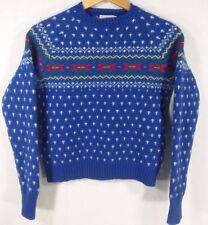 Vintage Rosanna women's sweater 100% Shetland wool, made in British Hong Kong