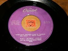 NAT KING COLE - WHEN ROCK AND ROLL COME TO TRINIDAD  / LISTEN - CALYPSO  POPCORN