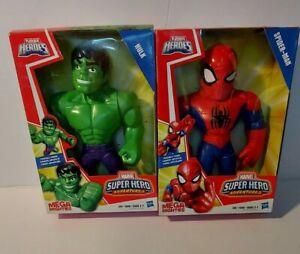 Playskool Heroes MARVEL Super Hero Spider-Man /HULK Action Figure Mega Mighties