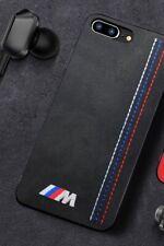 Alcantara Suede iPhone Case For BMW M Performance Logo Wireless Charging Slim