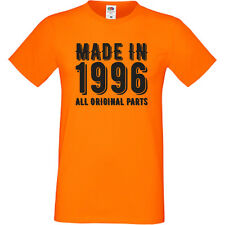 Made In 1996 All Original Parts T-Shirt Sofspun 21st Birthday Present Gift
