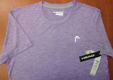 Head Tennis Purple Heather Hyper-Tek Dry Motion Performance T-Shirt L ~Nwt~