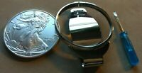 AMERICAN SILVER EAGLE DOLLAR SIZE MONEYCLIP Surgical Stainless Steel Holder