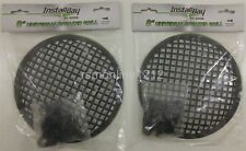 Lot of 2 Install Bay 85-9008 8-Inch Steel Speaker Waffle Grilles with Hardware