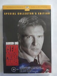 CLEAR AND PRESENT DANGER 1994 DVD Action Harrison Ford FREE POSTAGE
