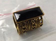 Vintage Medieval Appeal Gold GP & Black Onxy Set ~ Long ~ Dress Ring