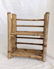 Small Shelf rustic Bamboo Display for book or toys