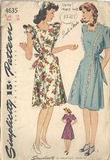 "1941 WW11 Vintage Sewing Pattern B29"" PINAFORE & MATERNITY DRESS (1741R)"